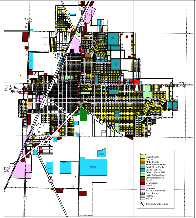 2006 Brownfield, TX Land Use Map