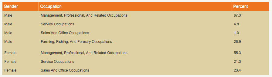 Occupations in Terry County Texas