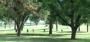 Disc Golfers at Coleman Park, Brownfield, Texas